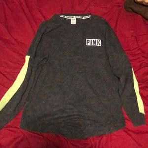 Green and gray long sleeve